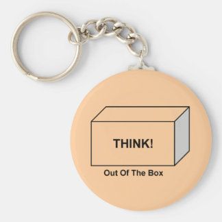 Think out of the Box Key Chain