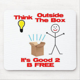 Think Out of the Box Mouse Pad
