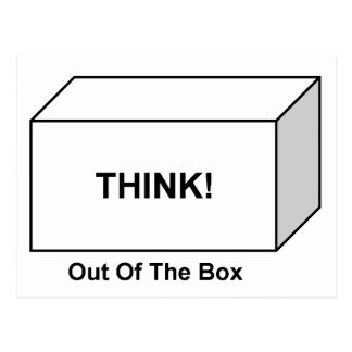 Think out of the Box Postcard
