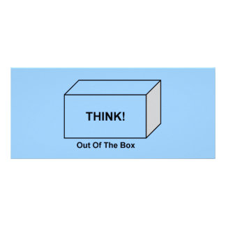 Think out of the Box Rack Card