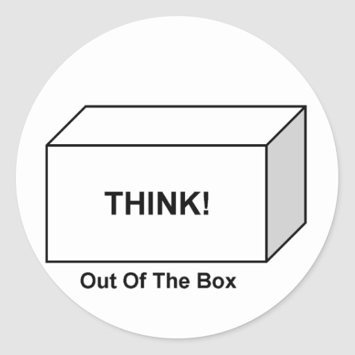 Think out of the Box Stickers