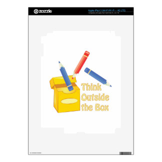 Think Outside Box Skin For iPad 3