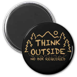Think Outside, No Box Required Magnet