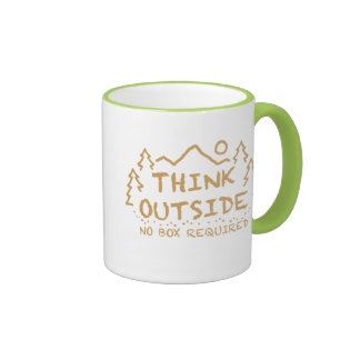 Think Outside, No Box Required Mugs