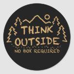 Think Outside, No Box Required Classic Round Sticker