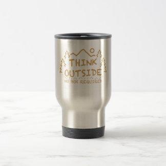 Think Outside, No Box Required Travel Mug