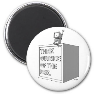 THINK OUTSIDE OF THE BOX Magnet