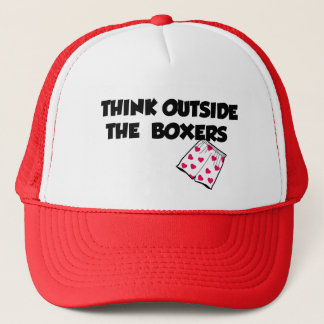 think outside of the box trucker hat