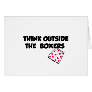 think outside of the boxers card