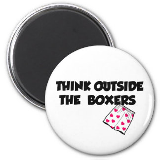 think outside of the boxers 2 inch round magnet