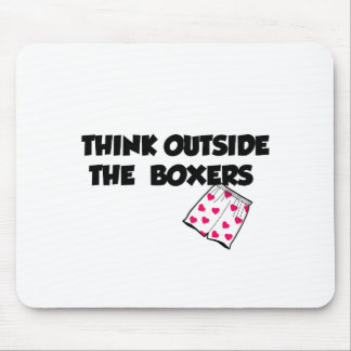 think outside of the boxers mouse pad