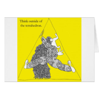 Think outside of the tetrahedron. card