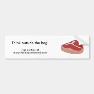 Think outside the bag! Bumper sticker