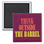 Think Outside The Barrel Fridge Magnets