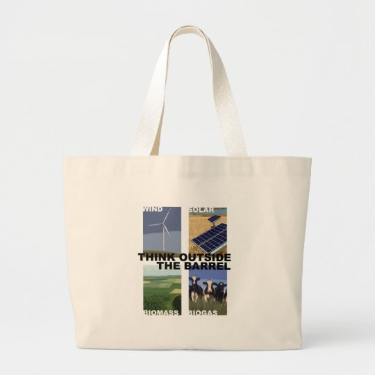 Think Outside the Barrel Large Tote Bag