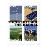 Think Outside the Barrel Postcard
