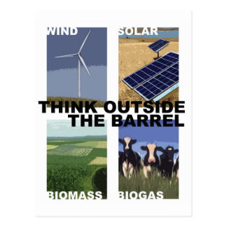 Think Outside the Barrel Postcard