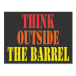 Think Outside The Barrel Postcards