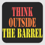 Think Outside The Barrel Sticker