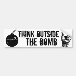 Think Outside the Bomb Bumper Sticker