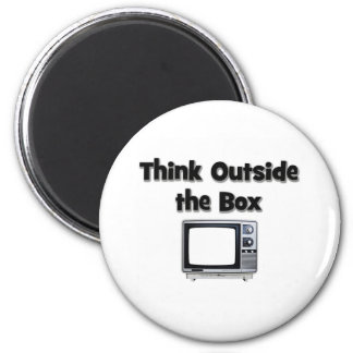 Think outside the box 2 inch round magnet