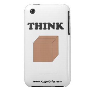 """""""Think Outside the Box"""" 3G/3GS Barely There iPhone 3 Cover"""
