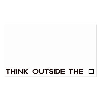 THINK OUTSIDE THE BOX Double-Sided STANDARD BUSINESS CARDS (Pack OF 100)