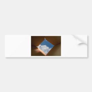 Think Outside The Box Cardboard Concept.jpg Bumper Sticker