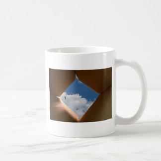 Think Outside The Box Cardboard Concept.jpg Classic White Coffee Mug