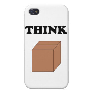 """""""Think Outside the Box"""" Case for iPhone 4/4S"""