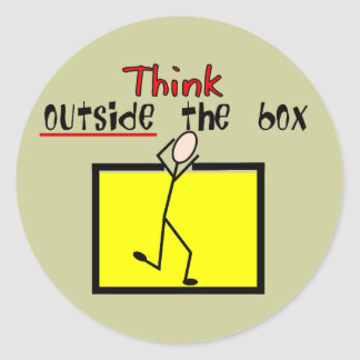 Think Outside the Box Classic Round Sticker