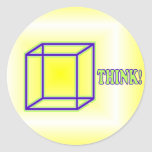 Think Outside the Box! Classic Round Sticker