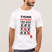 Think outside the box creative funny Tshirt