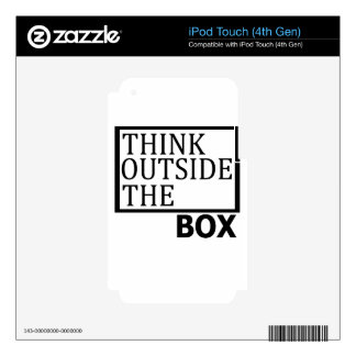 Think Outside The Box Decal For iPod Touch 4G