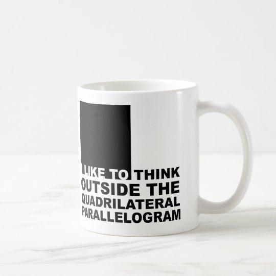Think Outside The Box Funny Geek Nerd Mug