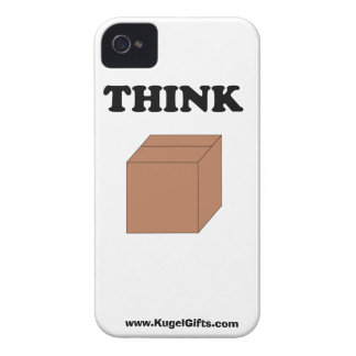 """""""Think Outside the Box"""" iPhone 4/4S Barely There Case-Mate iPhone 4 Cases"""