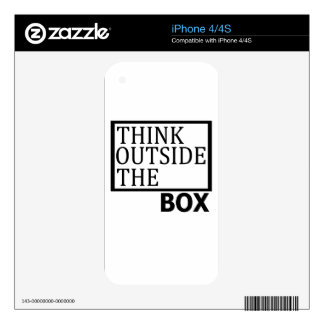 Think Outside The Box iPhone 4 Skin