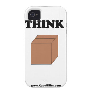 """""""Think Outside the Box"""" iPhone 4 Tough Case iPhone 4 Covers"""