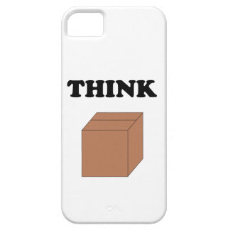 """""""Think Outside the Box"""" iPhone 5 Barely There Case"""