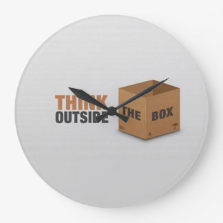 Think outside the Box Large Clock