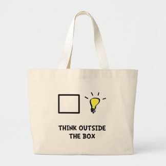 Think Outside The Box Large Tote Bag
