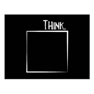 Think Outside The Box Literal Typography Postcard