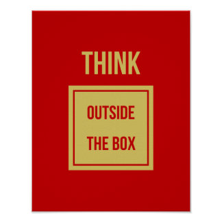 Think outside the box motivational poster