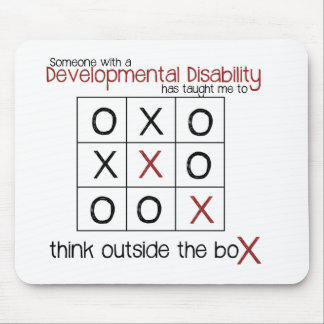 Think outside the box mouse pad