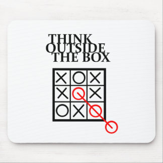 Think Outside the Box - Noughts and Crosses Mouse Pad