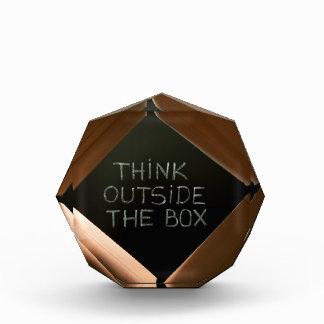 Think Outside The Box on Blackboard.jpg Acrylic Award
