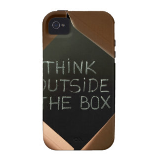 Think Outside The Box on Blackboard.jpg iPhone 4 Cases