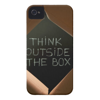 Think Outside The Box on Blackboard.jpg Case-Mate iPhone 4 Cases