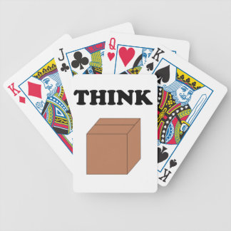 """""""Think Outside the Box"""" Playing Cards"""