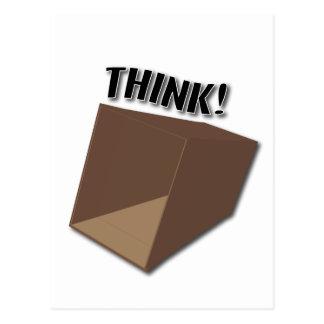 Think outside the box! postcard